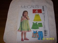 McCalls Pattern for sewing. Childrens and Girls dresses