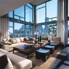 home interior design Condo Living, City Living, Home And Living, Living Area, Living Room, Interior Exterior, Interior Architecture, Interior Design, Luxury Penthouse