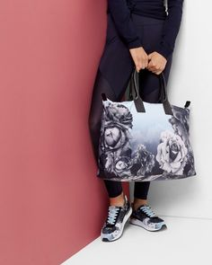 Blue Bloom print tote bag - Pale Blue | Bags | Ted Baker