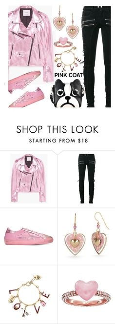 """""""Pretty Pink Coat"""" by deborah-calton ❤ liked on Polyvore featuring MANGO, Faith Connexion, Golden Goose, Silver Forest, Betsey Johnson and Michael Kors"""