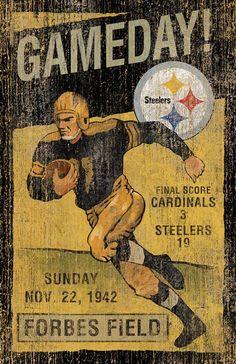 Pittsburgh Steelers Vintage Wall Art