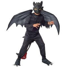 How to Train Your Dragon 2 - Night Fury Toothless Kids Costume | BuyCostumes.com