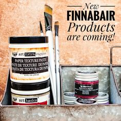 Another sneak-peek! Two new texture pastes are coming! And new possibilities! I really can't wait to see your projects with my new media! #finnabairproducts #mixedmedia #winter2018 #newrelease #finnabair #newproducts