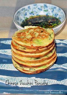 Chinese Zucchini Pancake | Easy, savory and light. Vegetarian with vegan option.