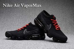 40aa99e9a6dd6 New Cookl Nike Air Vapormax Flyknit Shoes Mens Air Max 2018 Black Red