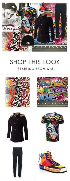 """Graffiti."" by mandax17 ❤ liked on Polyvore featuring Balmain, Oris, Maison Margiela, Moschino, Topman, men's fashion and menswear"