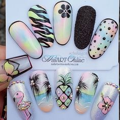 18 Cute Acrylic Nail Designs Boost Your Outstanding Look Nail Swag, Cute Acrylic Nail Designs, Diamond Nail Art, Nails Design With Rhinestones, Long Acrylic Nails, Luxury Nails, Dream Nails, Rainbow Nails, Nagel Gel