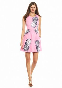 So cute for summer. Pink and navy pineapple dress