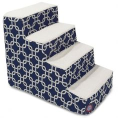 4 Step Portable Pet Stairs By Majestic Pet Products Navy Blue Links Steps for Cats and Dogs Cat Stairs, Dog Ramp, Pet Steps, Stair Steps, Animal Fashion, Bed Furniture, Slipcovers, Indoor Outdoor, Your Pet