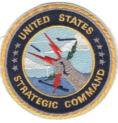 USAF Air Force Patch: Strategic Command - round, 3 1/2""