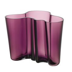 I pinned this iittala Alvar Aalto Vase in Dark Lilac from the Dec-A-Porter event at Joss and Main! Alvar Aalto Vase, Pantone, Scandinavia Design, Colored Vases, Coloured Glass, Crystals In The Home, Nordic Home, Crystal Vase, Home Decor Online