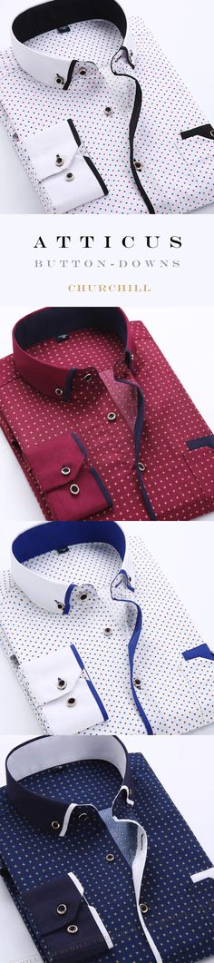 Atticus - Polkadot Slim Fit Shirt with Pockets Atticus Button-Down Shirts - ★★★★★ Mens Fashion Suits, Fashion Wear, Fashion Outfits, Indie Fashion, Fashion 2018, Fashion Clothes, Winter Fashion, Mode Outfits, Casual Outfits
