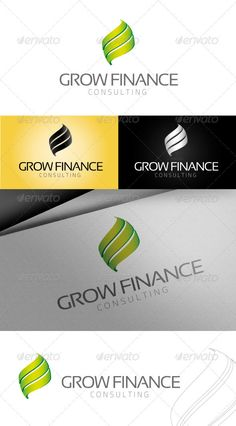 Grow Finance Logo — Vector EPS #clean #elegant • Available here → https://graphicriver.net/item/grow-finance-logo/3158407?ref=pxcr