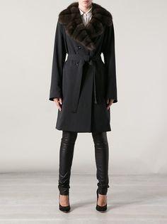 GIULIANA TESO - sable collar trench coat 7