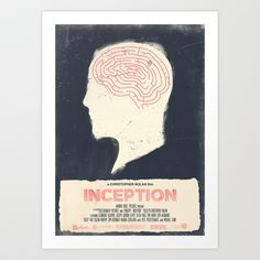 INCEPTION - Movie Poster Art Print by Joel Amat Güell