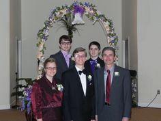 Isaac with his family Carl, Marilyn, Nathaniel, and Joshua
