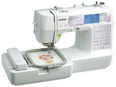 The Brother se400 is an excellent beginner sewing machine. It is an embroidery and sewing machine all in one. Perfect for those that want to do both.