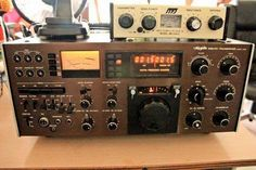 The Hy Gain 3750 HF Transciever - time i ever seen one. Ham Radio, Engineers, Radios, Gain, Electronics, Consumer Electronics