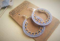 FREE SHIPPING: Crochet Hoop Earrings  Light by SimpleLittleThingss