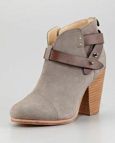 Harrow Nubuck Ankle Boot, Gray by Rag & Bone at Neiman Marcus.