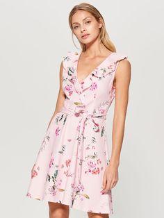 Kvetované šaty - ružová - UF728-03P - Mohito - 3