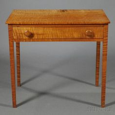 Federal Tiger Maple Table, possibly Pensylvania or Ohio, early 19th century…
