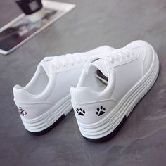 2018 Fashion Casual Leather Shoes Woman Kovaj Animal White Sneakers Flat Heels Platform Shoes Women Tenis Zapatos Mujer is part of Leather shoes woman - Ballerinas, White Sneakers, Sneakers Nike, Sneakers Women, Casual Sneakers, Sneakers Fashion, Fashion Shoes, Casual Leather Shoes, Donia