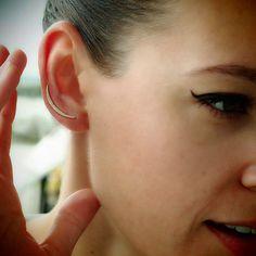 """Crescent Moon"" Diamond Ear Pins - Plukka - Shop Fine Jewelry Online"