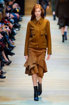 Long lines and lots of leather for the Guy Laroche autumn/winter 14 collection - see them all here http://www.harpersbazaar.co.uk/fashion/catwalk/guy-laroche-autumn-winter-14#slide-1 #PFW