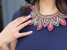 Bijou Brigitte colourful statement necklace
