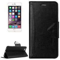 [$2.66] HAWEEL Magnetic PU Leather Case with Holder & Card Slots for iPhone 6 Plus(Black)