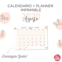 Calendario + Planner Imprimible free Happiness, Arts And Crafts, Words, Coaching, Apps, School, Free, Pretty Quotes, Print Calendar