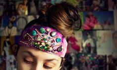Diy: Hippie Crystal Headwrap