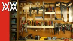 French cleat storage system for hand tools>... LOVE THIS IDEA !! Hippie Hugs with Love, Michele xo
