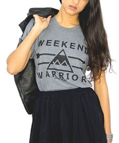 Look at this #zulilyfind! Heather Gray 'Weekend Warrior' Tee - Women #zulilyfinds