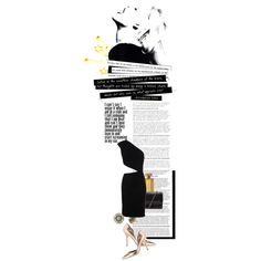 Black/gold, created by letterelle on Polyvore featuring the Stella & Dot - Marchesa Studs