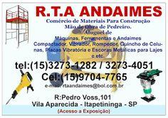 R.T.A. ANDAIMES  TUDO PARA SUA CONSTRUÇÃO  (Equipamentos em Geral)