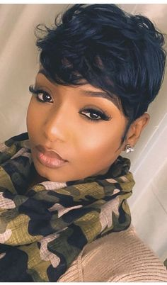 short hairstyle women african american pixie Cute short hairstyles wigs for black women lace front wigs human hair wigs african american wigs Cute Hairstyles For Short Hair, Short Hair Cuts, Curly Hair Styles, Natural Hair Styles, Black Women Short Hairstyles, Short Quick Weave Hairstyles, Pixie Cuts, Short Pixie, Natural Curls