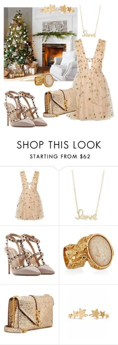 """""""Christmas Eve"""" by maryanacoolstyles ❤ liked on Polyvore featuring Valentino, Sydney Evan, Yves Saint Laurent and Pernille Corydon"""