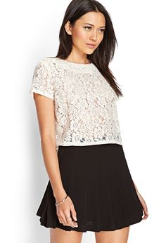 Embroidered Bead Lace Top | FOREVER21 #SummerForever