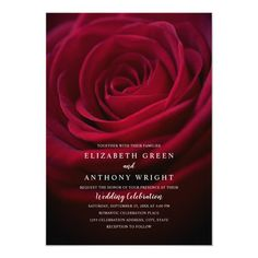 Shop Elegant Floral Rustic Burgundy Rose Modern Wedding Invitation created by superdazzle. Personalize it with photos & text or purchase as is! Wedding Boxes, Wedding Dj, Wedding Cards, Rustic Wedding, Dream Wedding, Wedding Dress, Affordable Wedding Invitations, Beautiful Wedding Invitations, Elegant Wedding Invitations
