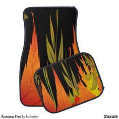Autumn Fire Car Floor Mat Car Mats, Car Floor Mats, Christmas Card Holders, Keep It Cleaner, Fire, Flooring, Autumn, Design, Fall