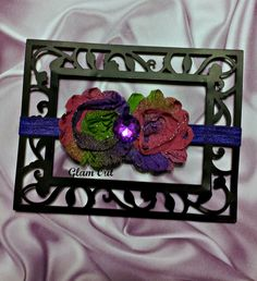 Multicolor shabby headband will fit infant to teen