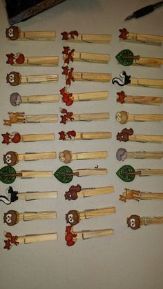 Woodland baby shower - Don't say baby clothespin game