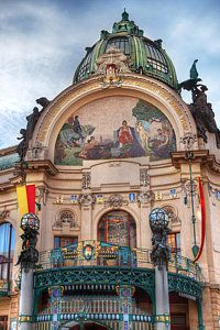 Municipal House-prague Art Print by John Galbo