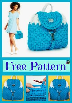 Elegant Crochet Nora Backpack – Free Pattern #freecrochetpatterns #bag #backpack #norabag