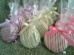 Lavender Pastel Green Pink Chocolate Covered Oreos Cookies Baby shower Favors Wedding Favors Christening Favors on Etsy, $18.00
