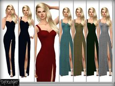Midnight dress by DarkNighTt at TSR via Sims 4 Updates