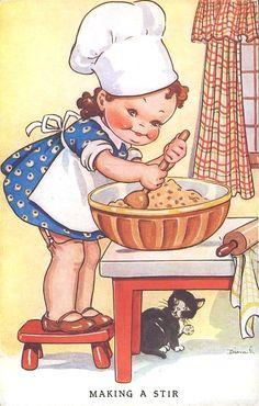 chef.quenalbertini: Vintage Dinah card