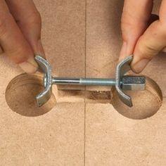 Conseils pratiques bricolage sur Quincaillerie d'ameublement : raccorder deux panneaux (Décoration - Mobilier)